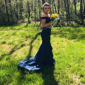 Blue Jovani look alike dress